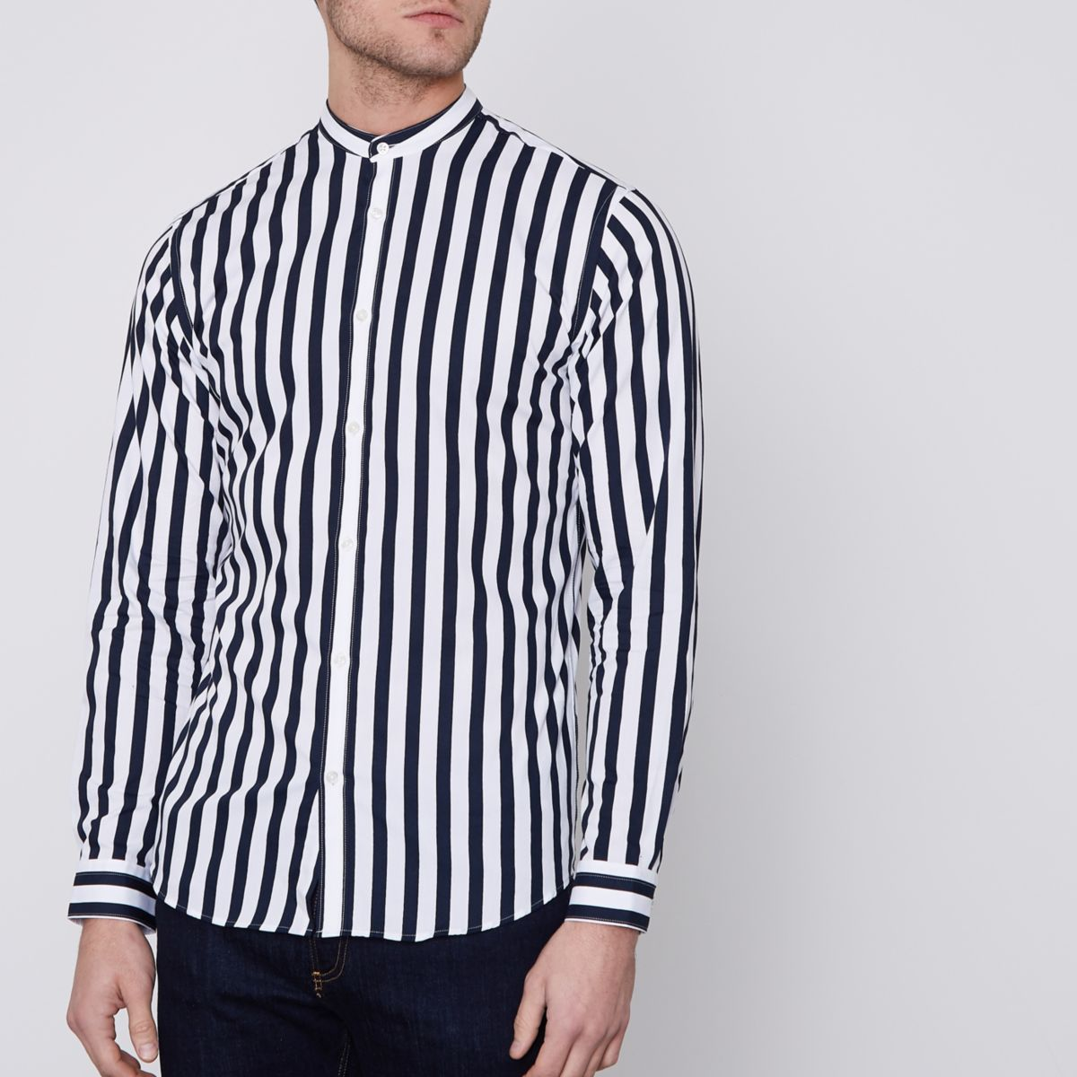 Navy Jack & Jones Premium stripe shirt