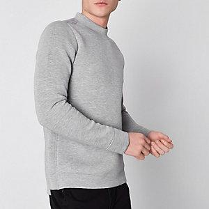 Jack & Jones Premium – Grau meliertes Sweatshirt
