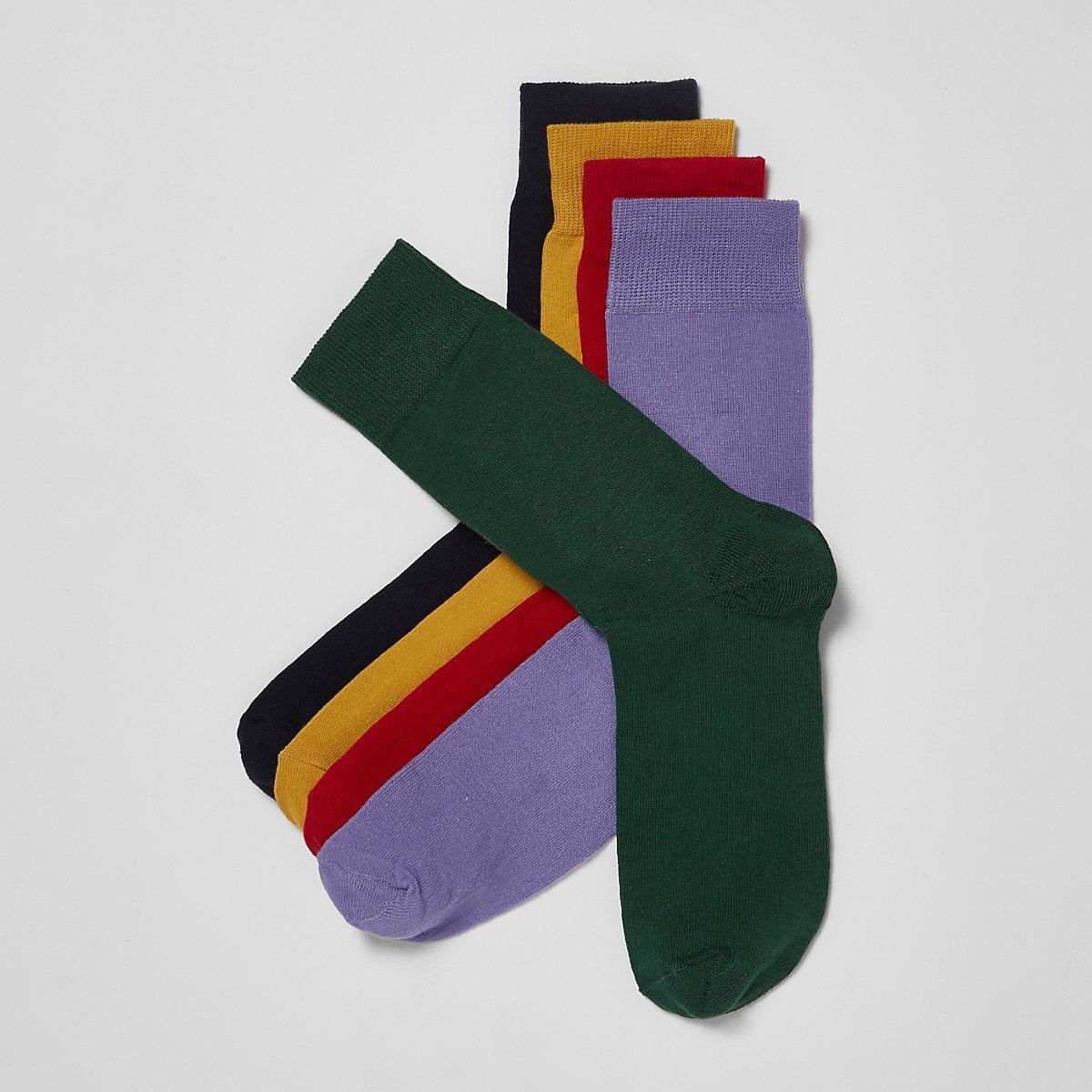 Red multicoloured socks multipack