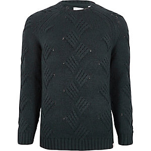 Navy Only & Sons chunky knit jumper