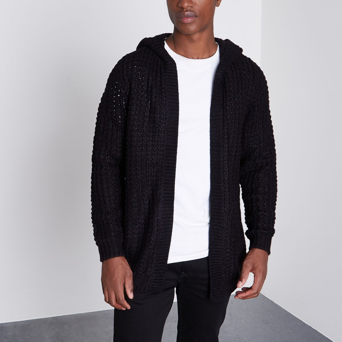 Only & Sons – Cardigan noir à capuche