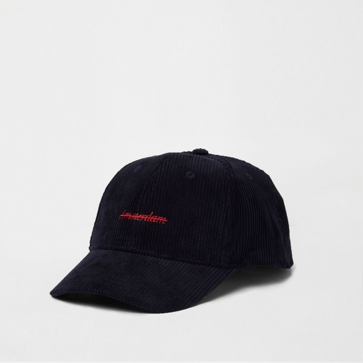 Navy 'Amsterdam' embroidered baseball cap