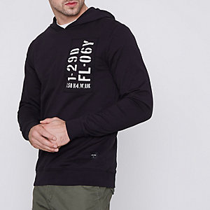 Black Only & Sons print patch hoodie