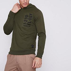 Only & Sons - Donkergroene hoodie met print