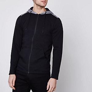 Only & Sons - Zwarte mesh hoodie met rits