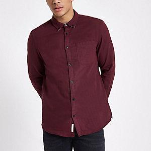 Zweiseitiges Slim Fit Hemd in Bordeaux