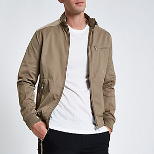 Stone racer neck jacket