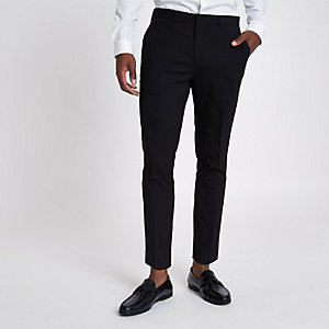Black skinny cropped smart pants