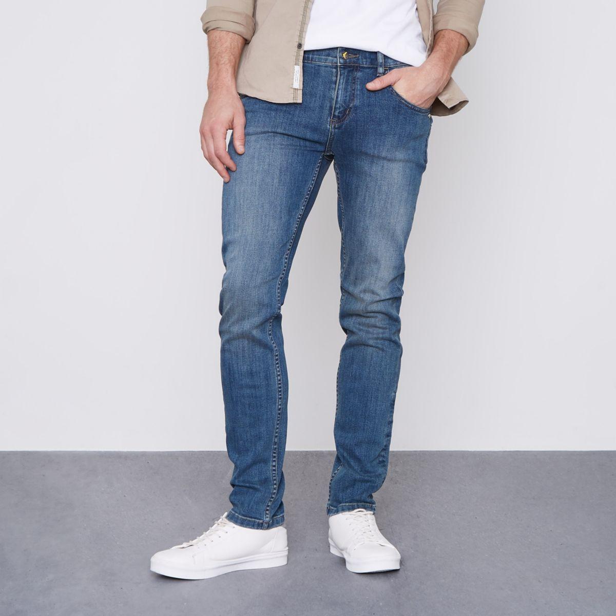 Monkee Genes Blaue, klassische Skinny Jeans