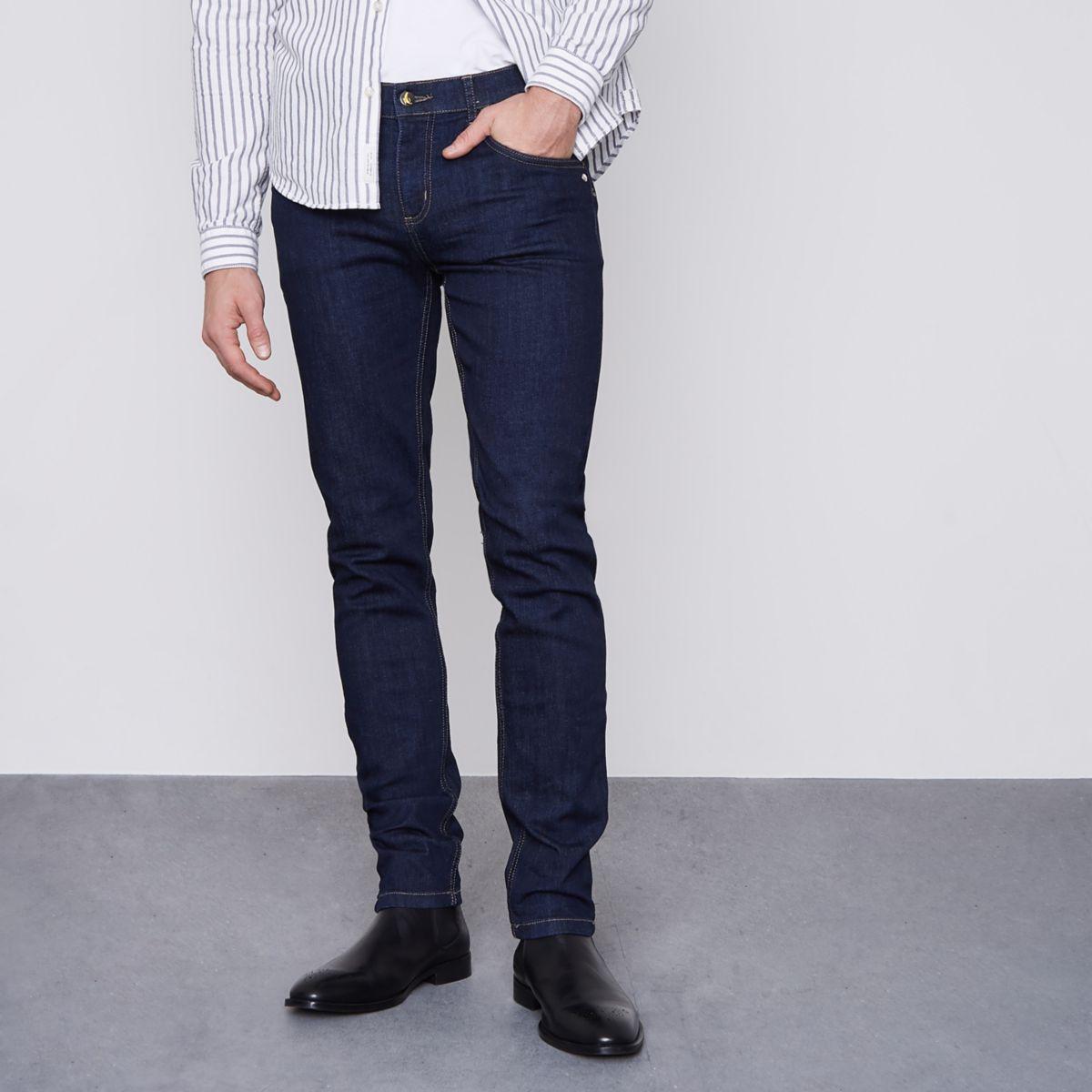 Dark blue Monkee Genes skinny jeans