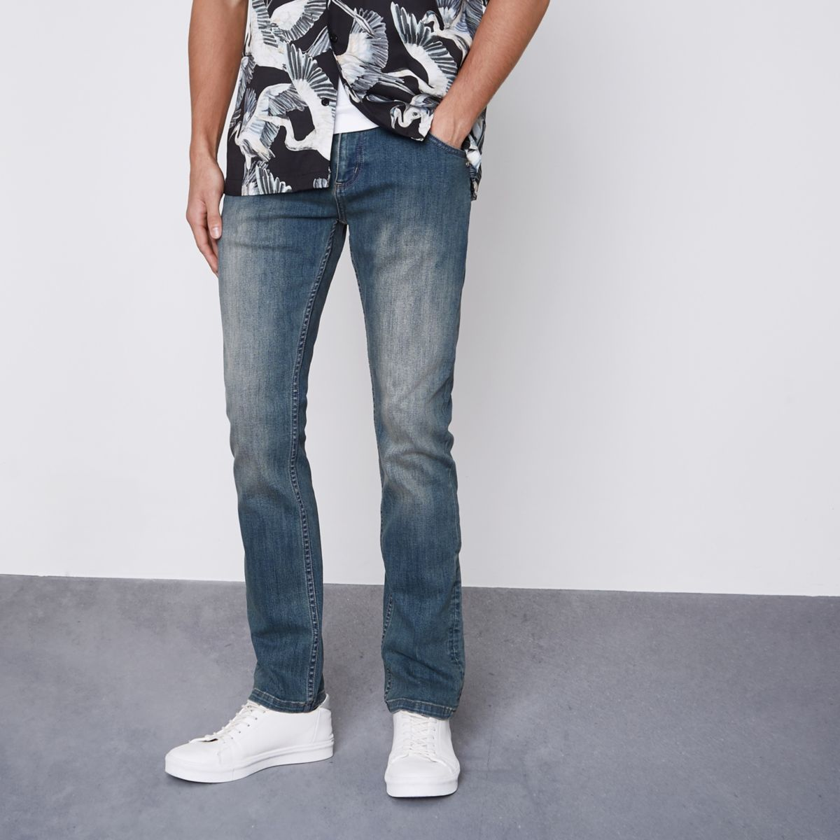 Monkee Genes - Blauwe slim-fit jeans