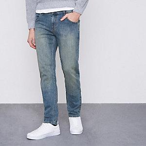 Monkee Genes Blaue Jeans in Slim Fit mit schmal zulaufendem Beinschnitt