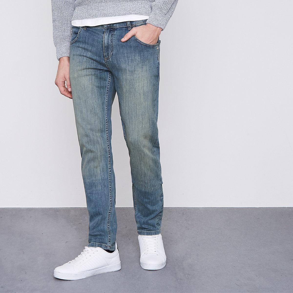 Monkee Genes blue slim tapered fit jeans