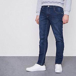 Monkee Genes Dunkelblaue Jeans in Slim Fit mit schmal zulaufendem Beinschnitt