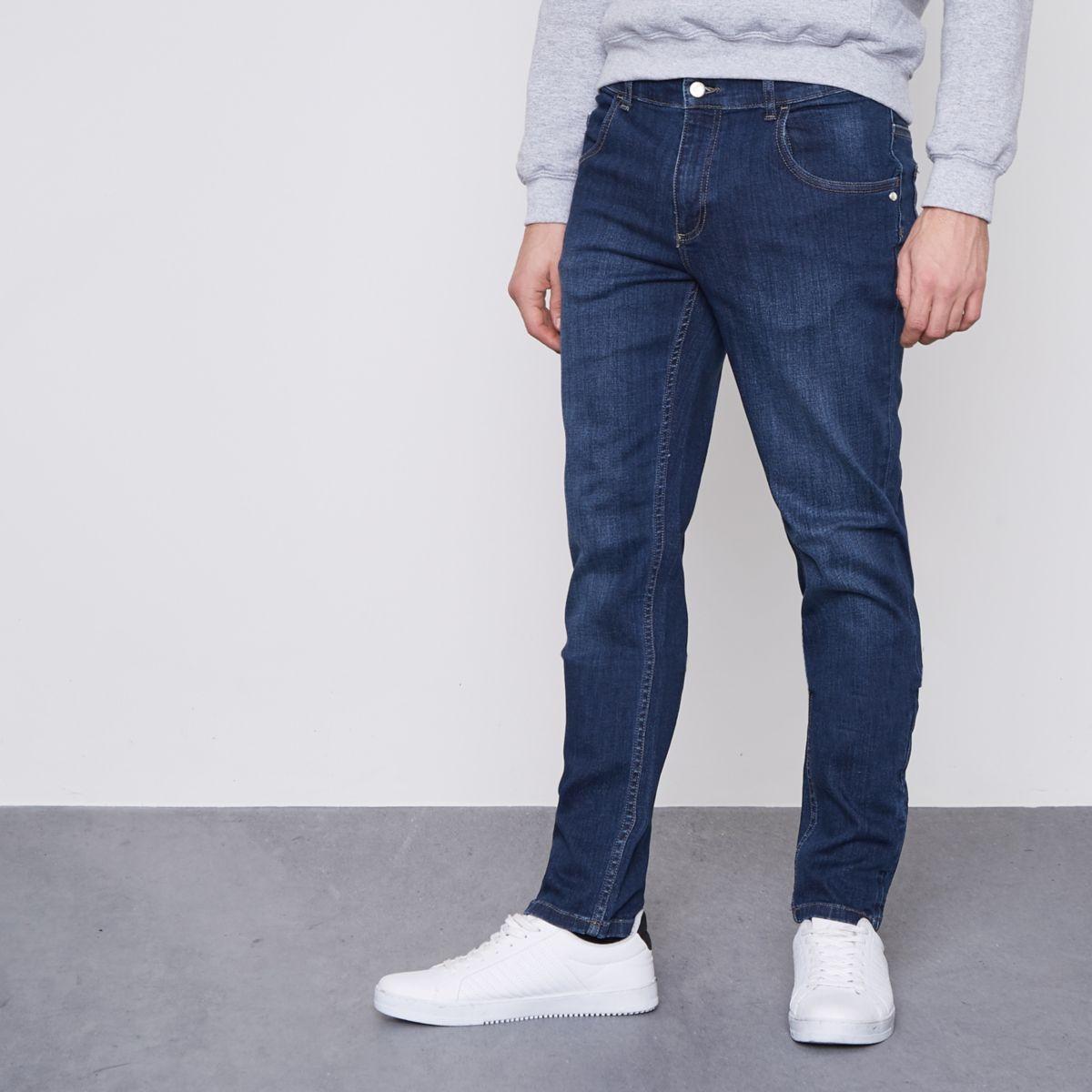 Monkee Genes dark blue slim tapered fit jeans