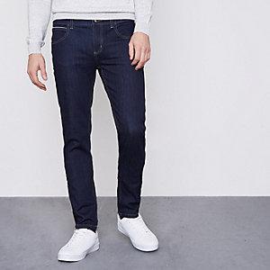 Monkee Genes - Donkerblauwe smaltoelopende jeans