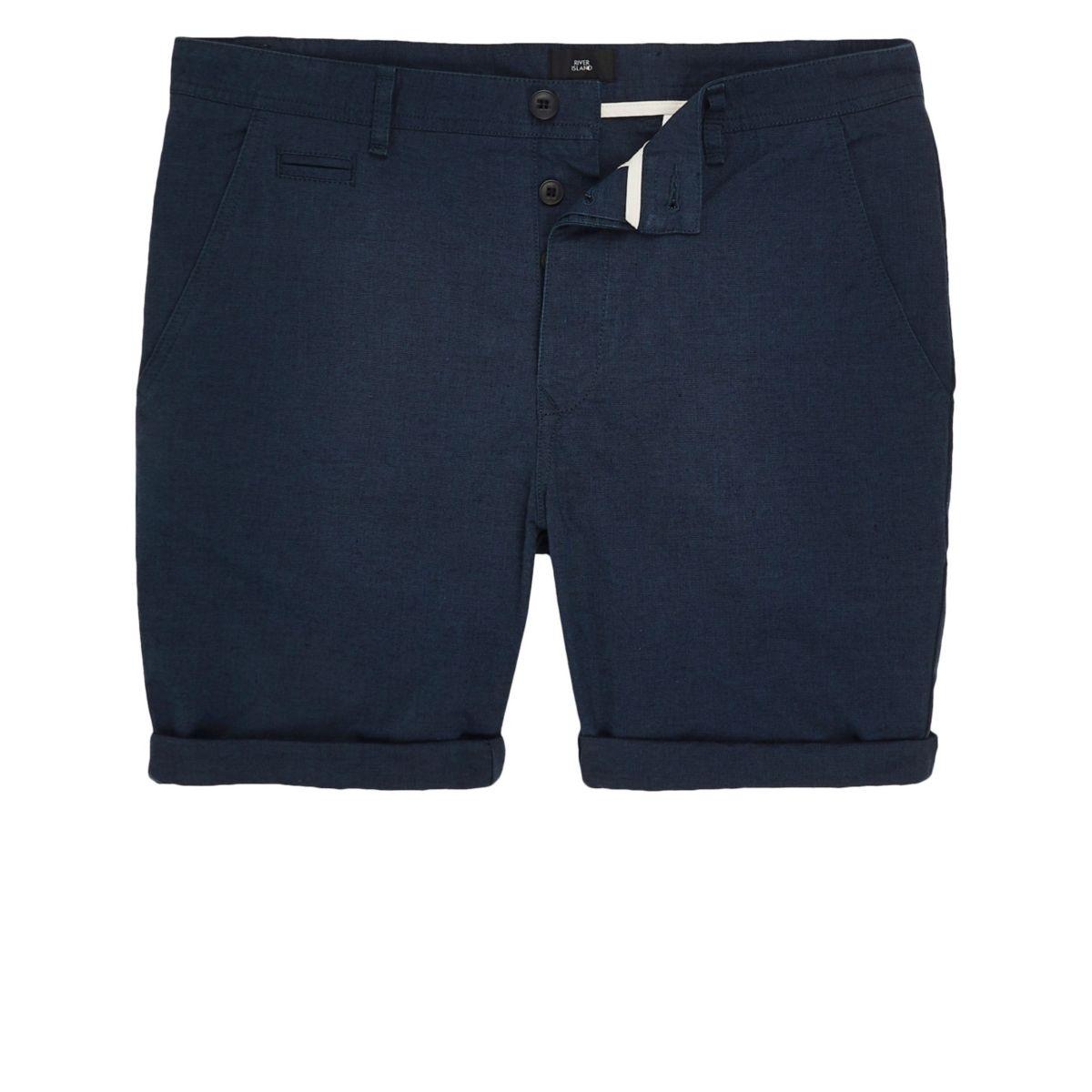 chino slim shorts Oxford fit Navy tpxdwqC66