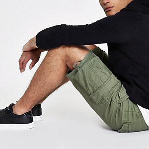 Short cargo slim kaki
