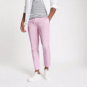 Pantalon chino skinny rose court