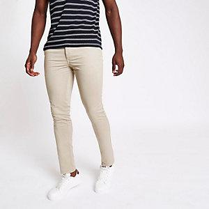 Lichtbruine skinny-fit broek