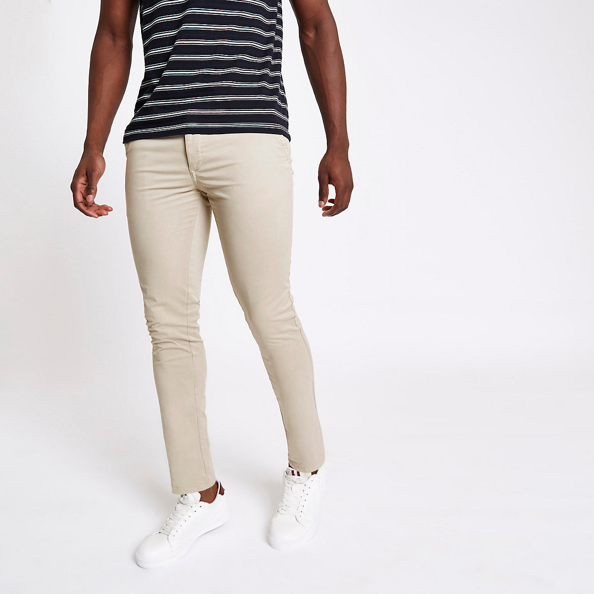 Light brown skinny fit trousers