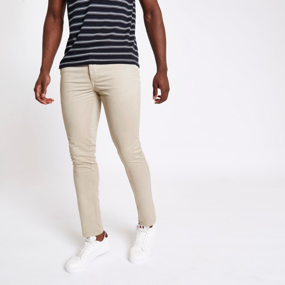 Light brown skinny fit pants