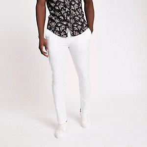 Pantalon chino blanc coupe skinny
