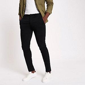 Black super skinny chino pants