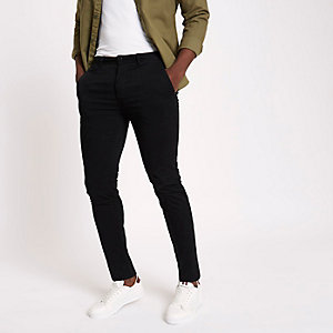 Zwarte superskinny chinobroek