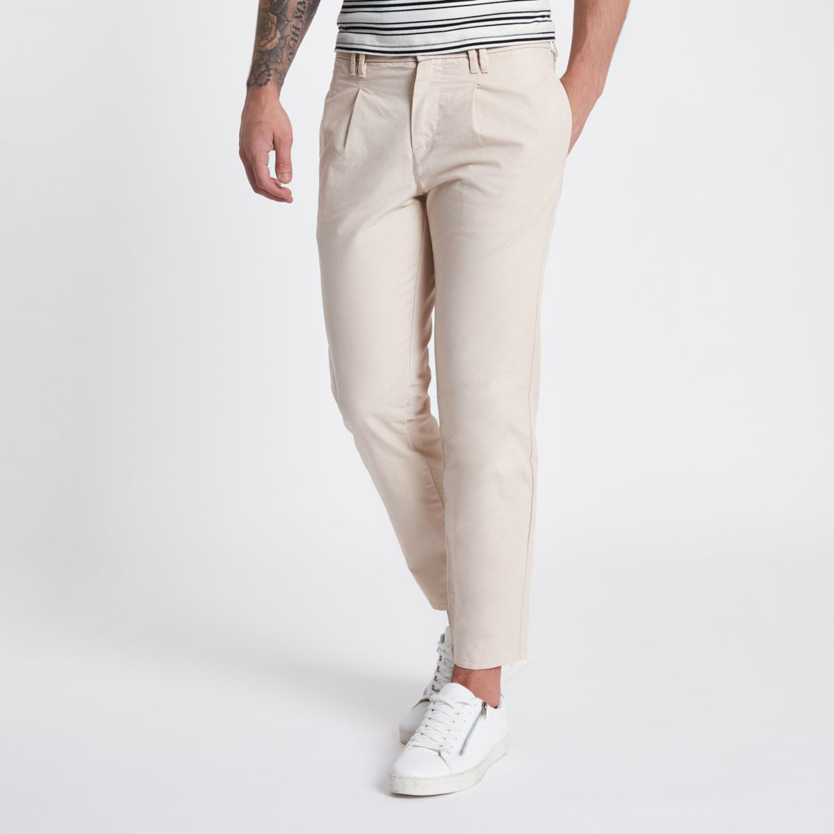 Stone tapered chino pants