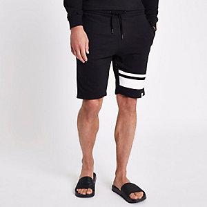 Only & Sons – Schwarze, gestreifte Shorts