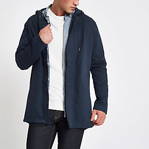 Only & Sons navy hooded parka jacket