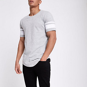 Only & Sons – T-shirt rayé gris