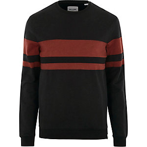 Black Only & Sons red long sleeve T-shirt