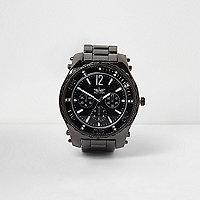 Stahlgraue Armbanduhr