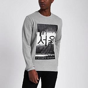 Only & Sons - Grijze sweatshirt met print
