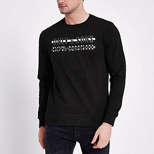 Only & Sons – Schwarzes, bedrucktes Sweatshirt