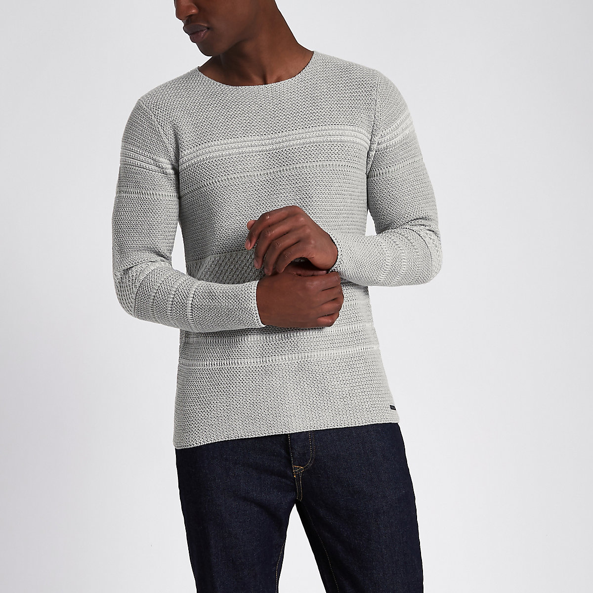 Only & Sons grey knitted jumper