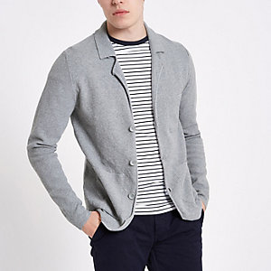 Cardigan Only & Sons en maille gris
