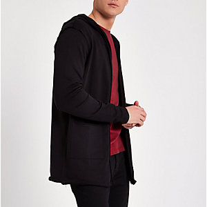 Only & Sons black hooded cardigan