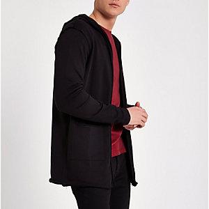 Only & Sons - Zwart vest met capuchon