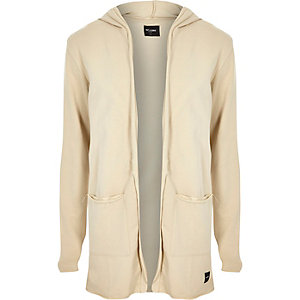 Only & Sons grey hooded cardigan