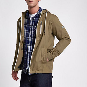 Only & Sons brown hooded jacket