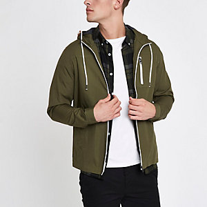 Only & Sons – Kapuzenjacke in Khaki