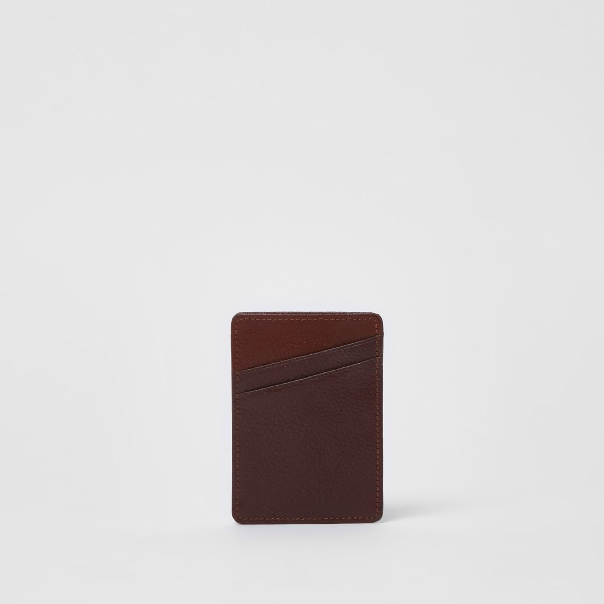 Tan faux leather card holder