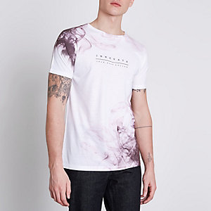T-shirt imprimé « innovate » rose et blanc