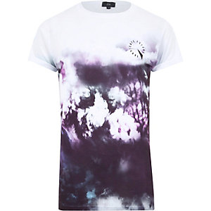 Purple smudge print T-shirt