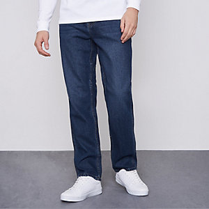 Blue Monkee Genes relaxed fit worker jeans