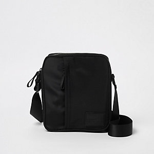 Black cross body mini messenger bag
