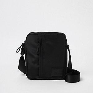 Black cross body mini messenger bag